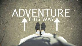 Adventure this way Stock Image