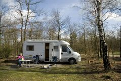 Adventure With Camper Royalty Free Stock Images