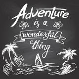 Adventure is a wonderful thing Stock Photos