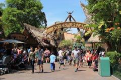 Adventureland in Disneyland royalty-vrije stock foto