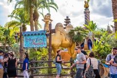 Adventureland en el reino mágico Foto de archivo