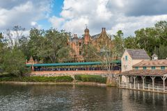 Adventureland at the Magic Kingdom, Walt Disney World. Orlando, Florida: December 2, 2017: Adventureland at The Magic Kingdom, Walt Disney World. In 2016, the stock photo