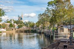 Adventureland at the Magic Kingdom, Walt Disney World. Orlando, Florida: December 2, 2017: Adventureland at The Magic Kingdom, Walt Disney World. In 2016, the royalty free stock images