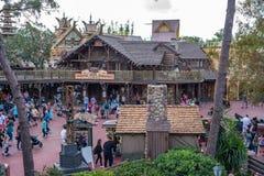Adventureland am magischen Königreich Stockbilder