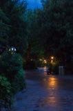 Adventureland nachts Lizenzfreie Stockbilder