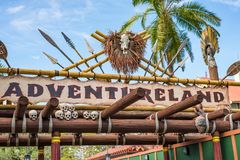 Adventureland på det magiska kungariket, Walt Disney World arkivfoto