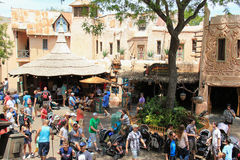 Adventureland på Disneyland Arkivbild