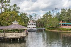 Adventureland przy Magicznym królestwem, Walt Disney świat Zdjęcia Stock