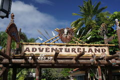 AdventureLand sign in Disney World Stock Image