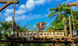 Adventureland Walt Disney świat obraz stock