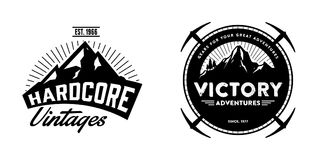Adventurer & Explorer Logo Badges Set 3 Royalty Free Stock Image