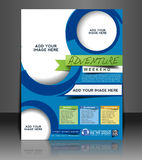 Adventurer Flyer Design. Adventurer Flyer & Poster Template Design Royalty Free Stock Image