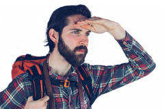Adventurer looking away Royalty Free Stock Photography