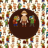 Adventurer people card Stock Images