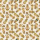 Adventurer people seamless pattern Stock Photo