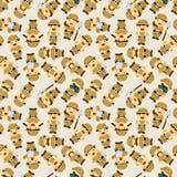 Adventurer people seamless pattern Stock Photo
