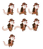 Adventurer Rat Animation Sprite Stock Photo