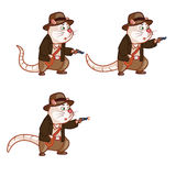 Adventurer Rat Animation Sprite Royalty Free Stock Image