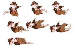 Adventurer Rat Animation Sprite Stock Image