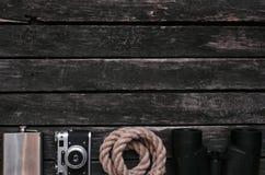 adventurer reiziger Ontdekkingsreizigerachtergrond met exemplaarruimte stock foto's