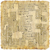 Adventurer's plan. Pirate map of lost treasure Royalty Free Stock Image