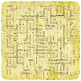 Adventurer's plan. Pirate map of lost treasure Royalty Free Stock Photos