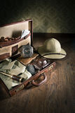 Adventurer's suitcase Stock Photo