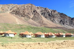 Adventurers camping in Ladakh-1. Royalty Free Stock Image