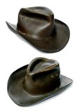 Adventurers rough old leather cowboy hat Stock Photography