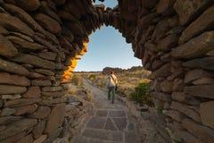 Adventures on Amantani' Island, Titicaca Lake, Peru Stock Photography