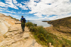 Adventures on Island of the Sun, Titicaca Lake, Bolivia Stock Photography