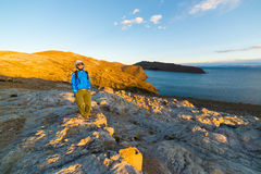 Adventures on Island of the Sun, Titicaca Lake, Bolivia Stock Image