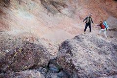Adventuring To Mountains Stock Photos