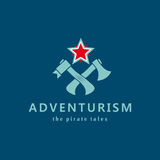 Adventurism. Pirate tales. Logo. Stock Photos