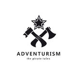 Adventurism. Pirate tales. Logo. Royalty Free Stock Photos