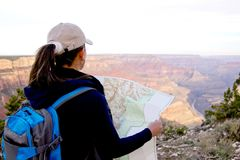 Adventurous female at the Grand Canyon Royalty Free Stock Image