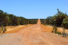 Adventurous Holland Track, a 4WD unsealed road in Western Australia Royalty Free Stock Photos