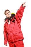 Adventurous man making gesture Royalty Free Stock Photo