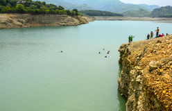 Adventurous place - Khanpur Lake, Pakistan. Khanpur Dam is located on the Haro River near Potowar Plateau and the village of Khanpur, KPK, Pakistan. The Royalty Free Stock Photos