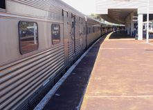 Traveling by Indian Pacific long distance train, Perth, Australia Royalty Free Stock Photography