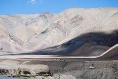Adventurous travels. 4x4 on a remote mountain road. Ladakh, India Stock Photos