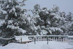 Adventurous winter Stock Photography