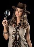 Adventurous woman on safari Royalty Free Stock Image