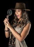 Adventurous woman on safari Stock Photography