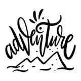 adventurousness Литерность вектора руки вычерченная r иллюстрация вектора
