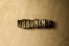 ADVERSAIRE - plan rapproché de mot composé par vintage sale sur le contexte en métal illustration de vecteur