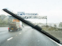 Adverse Driving Conditions Royalty Free Stock Photography