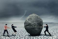 Adversidad del gran negocio Imagenes de archivo