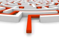 Adversity concept. Render of a maze vector illustration