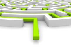 Adversity concept. Render of a maze royalty free illustration
